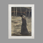 Original lithograph de Estampe Moderne : La promise