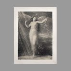 Original lithograph de Estampe Moderne : Immortalité