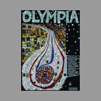 Signed screenprint de Hundertwasser F. : Olympia, The end of the road