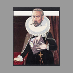 Original signed collage de Erro Gudmundur : The story of Mary Stuart