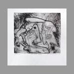 Gravure originale signée de Singer Gail : The three tates