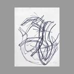 Drawing in feltpen de Phillips Helen : Study of forms VI