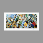 Signed print de Erro Gudmundur : Tribute to Magritte