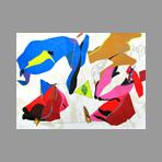 Original signed screenprint de Telemaque Herv� : Bleu de Matisse...
