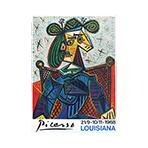 Affiche d'exposition offset de  : Picasso Louisiana