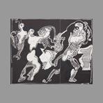 Original signed etching de Ortega Jos� : La rapt des Sabines