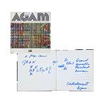 Agam Livre original signé