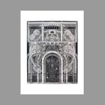 Original signed engraving de Ab� Akira : La porte
