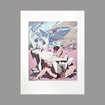 Sérigraphie originale signée de Erro Gudmundur : Made in Japan n°7