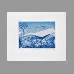 Gravure originale signée de Dublineau Yannick : Glacier tibétain