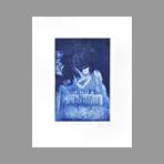 Original signed aquatint de Dublineau Yannick : Le jardin de l'infante