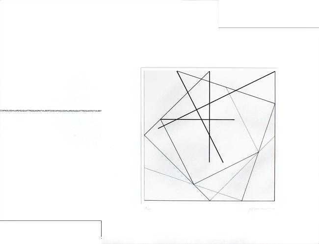 Su quattro quadrati incisioni firmate di paolo ghilardi for Quattro piani di casa quadrati