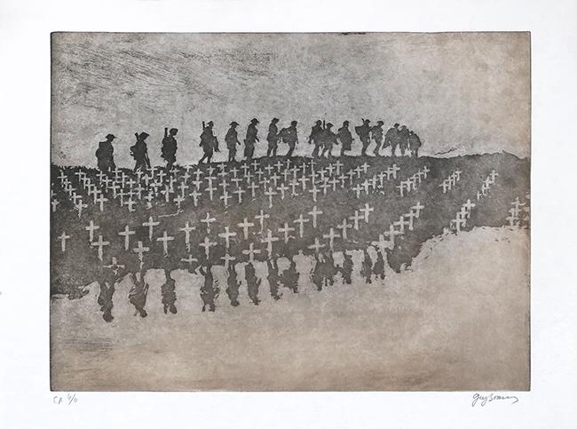 0aa7108dbc9 La marche de nuit 2013. Gravure originale ...
