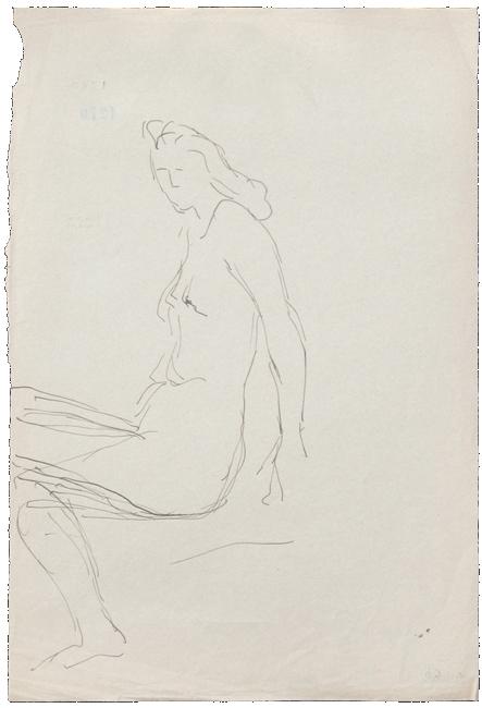 Galerie Michelle Champetier Lucio Fontana Mujer Desnuda Sentada Iii