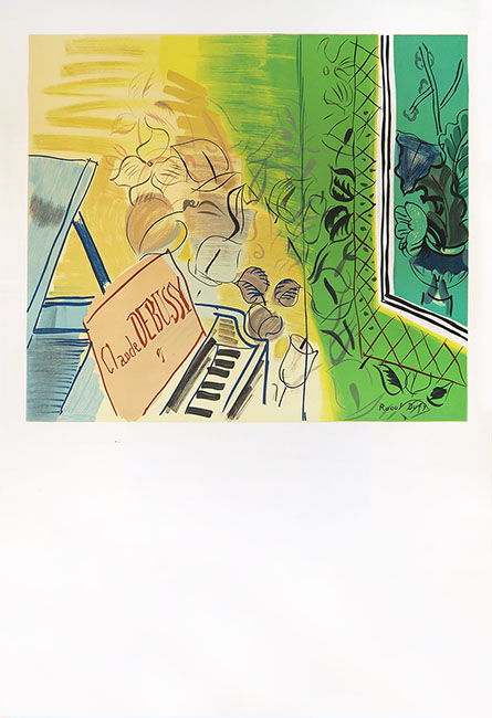 8 EIGHT COPIES OF THE PAINTINGS OF RAOUL DUFY A GREAT FRENCH PAINTER