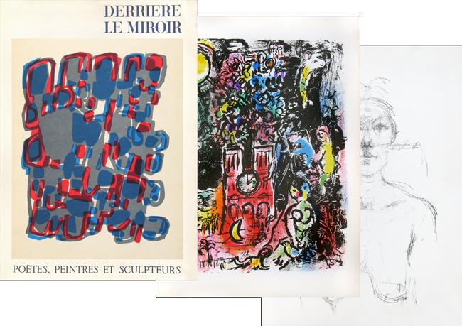 Dlm n 119 de marc chagall for Derriere le miroir giacometti