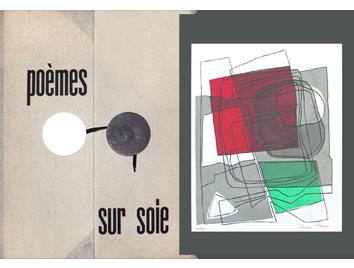 Book with screenprints de  : Poèmes sur soie