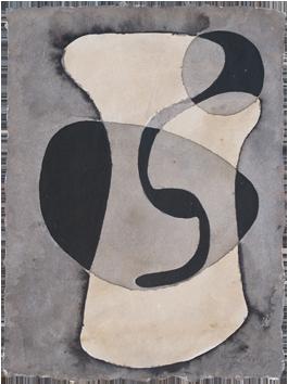 Aquarelle originale signée de  : Composition abstraite
