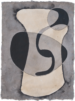 Original signed watercolour de  : Abstract composition