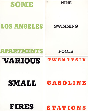 Livre illustré de  : Swimming pools, Gasoline stations, Small Fires, Apartme