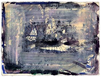 Aquarelle originale signée de  : Composition V