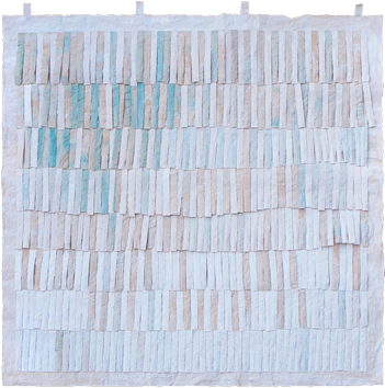 Oeuvre unique signée de  : Franges vertes