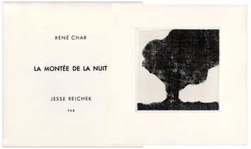 Book with etchings de Char René : La montée de la nuit