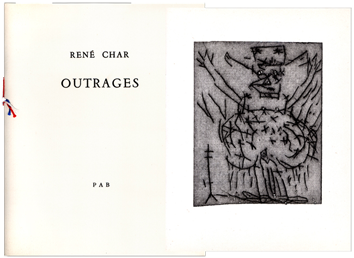 Dedicated book de Char René : Outrages