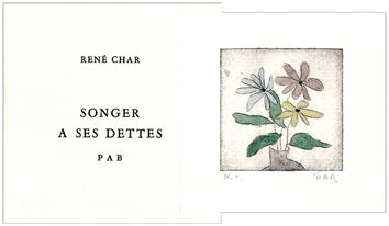 Dedicated book de Char René : Songer à ses dettes
