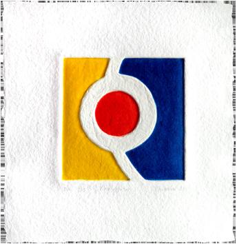 Estampe originale signée de  : Pièce montée