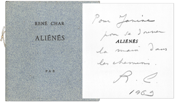 Original signed book de  : Aliénés