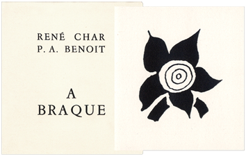 Illustrated book de Char René : A Braque
