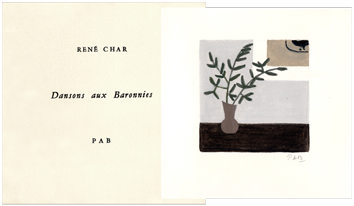 Illustrated book de Char René : Dansons aux baronnies