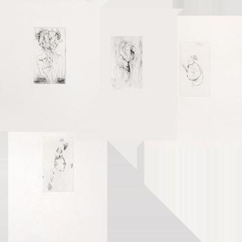Original drypoints de  : Visages, précédé de Portraits officiels