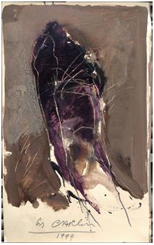 Original oil de  : Study of nude II