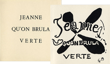 Illustrated book de  : Jeanne qu'on brula verte