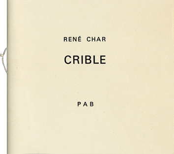 Original book de Char René : Crible