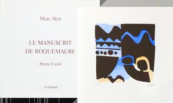 Livre avec gravures de  : Le manuscrit de Roquemaure