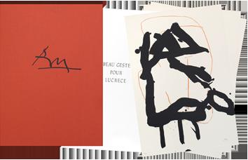Livre avec lithographies de  : Beau geste pour Lucrèce