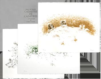 Lithographies originales signées de  : Cadastre de cadavres