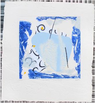 Signed etching carborundum de  : Ciel plissé