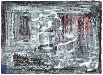 Oeuvre unique signée de  : Composition XVII