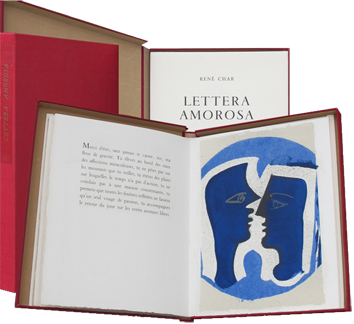 Book with lithographs de  : Lettera Amorosa II