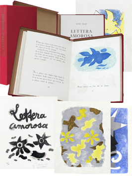 Book with lithographs de  : Lettera Amorosa I
