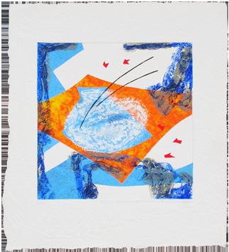 Signed etching carborundum de  : Aquatique