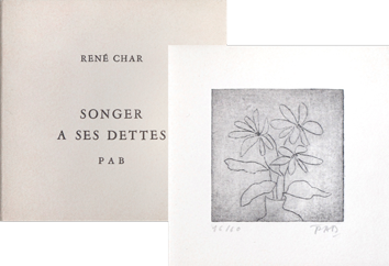 Book with etching de  : Songer à ses dettes