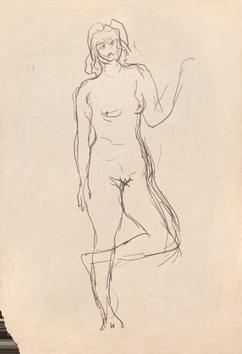 Dessin de  : Femme nue debout