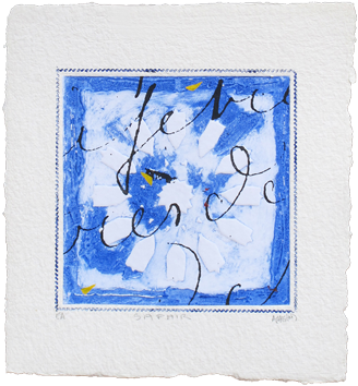 Signed etching carborundum de  : Saphir