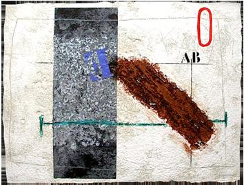 Gravure signée de  : Dynamique en brun