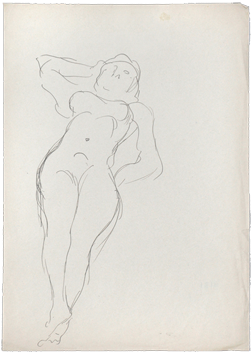 Original drawing de  : Reclining woman  II